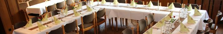Gesellschaften mit bis zu 150 Personen können im Gasthof feiern.
